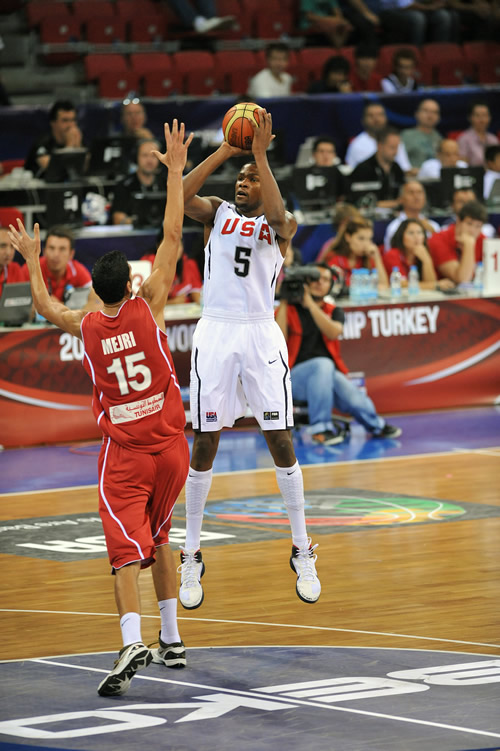 图文-[世锦赛]美国92-57突尼斯杜兰特跳投