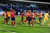 韩国队庆祝胜利