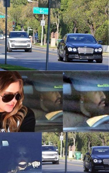 科勒-卡戴珊与新男友在车里