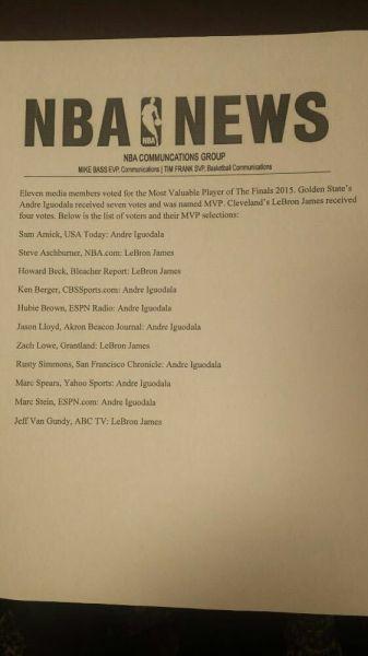 FMVP投票结果
