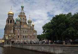 北京奥运火炬传递之圣彼得堡精美建筑记载深厚历史