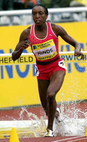 资料图片-牙买加女子3000米障碍名将海因兹