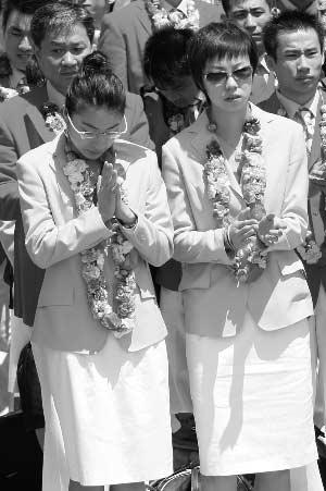 郭晶晶双手合十感谢香港同胞 暂时无结婚打算(图)