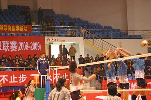 08-09赛季全国女排联赛A组第14轮:浙江1比3负山东