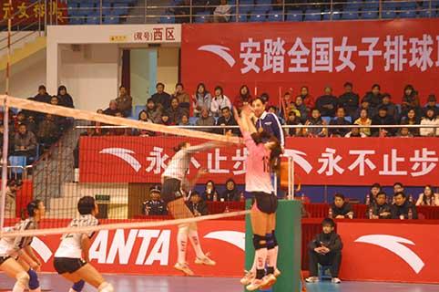 08-09赛季全国女排联赛A组第15轮:浙江3比0胜河北