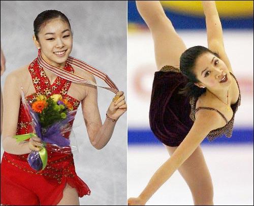 金妍儿欣喜见到花滑女皇训练赢得关颖珊掌声(图)