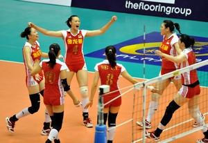 大奖赛-王一梅17分中国女排3-0荷兰澳门站开门红
