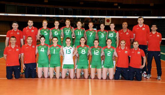 保加利亚女排全家福(图片来源:FIVB网站)