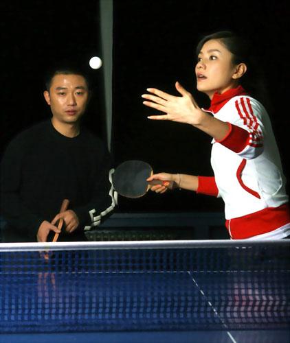 图文-星战胡可VS国乒名帅阎森挑战混双让人期待