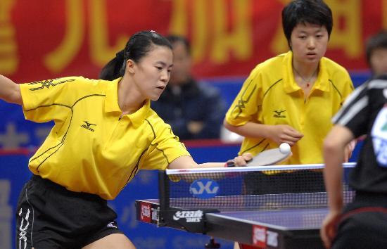 图文-全国乒乓球赛辽宁夺女团冠军王楠四两拨千斤