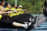 图文-奥运舵手总决赛第二集落幕 测功仪前倾尽全力