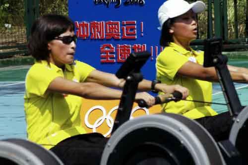 图文-奥运舵手总决赛第二集次仁吉已经筋疲力尽