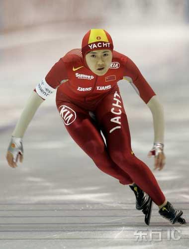 图文-世界杯速滑赛荷兰站王北星获女子500米亚军