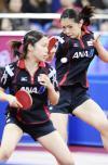 图文-乒联总决赛女双1/4决赛 日本女将异常凶悍