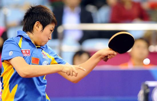 图文-国际乒联总决赛女单决赛郭跃已经拼尽全力