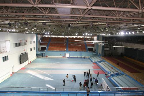图文-北航体育馆奥运改造竣工 体育馆内全景