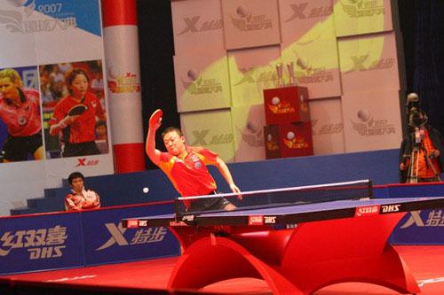图文-乒乓球总冠军赛1/4决赛战况马琳强者本色