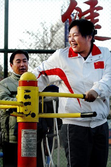图文-宁夏奥运火炬手候选人徐宁 徐宁笑对人生