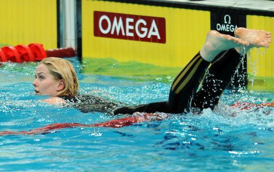 图文-游泳中国公开赛2日赛况 布丽塔・斯特芬看成绩