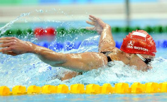 图文-奥运游泳测试赛5日赛况 波兰选手蝶泳夺冠