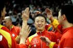 图文-世乒赛中韩男团巅峰对决队员击掌相庆