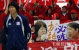图文-对抗赛天津女排完胜郎家军 球迷打出加油标语