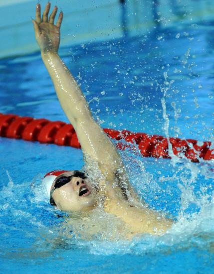 图文-全国游泳奥运选拔赛200米混合泳季军刘维佳