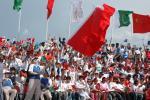 图文-北京奥运圣火在伊斯兰堡传递 群众热情欢迎