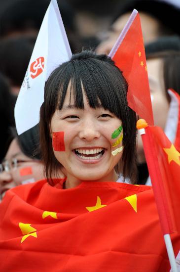 图文-北京奥运圣火在首尔传递 我为奥运贡献一份力