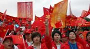 图文-圣火境外传递回顾之中国元素 阿根廷和谐传递