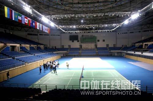 北京工业大学体育馆位于北京工业大学校内,其建筑面积24383平方米-图片