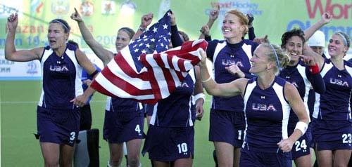 图文-北京奥运女子曲棍球参赛队伍 世界第11美国队
