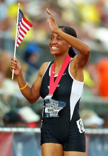 图文-美国奥运田径选拔赛第二日400米栏季军哈里森