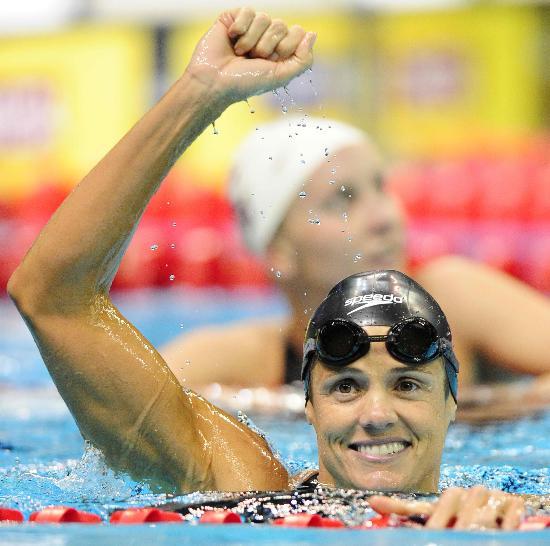 图文-美国奥运会游泳选拔赛赛况 托雷斯夺冠