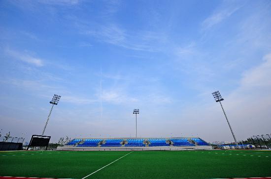 图文-奥林匹克公园曲棍球场 球场诠释北京奥运理念