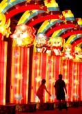 """图文-京城""""奥运文化广场""""五彩缤纷 彩灯可爱耀眼"""
