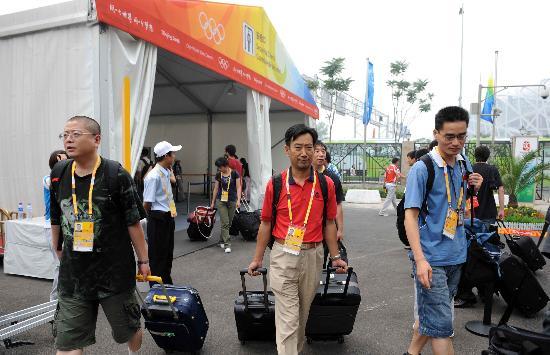 图文-北京奥运会媒体村开村 奥运期间吃住在此