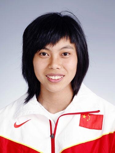 图文-北京奥运会中国代表团成立田径队队员郑幸娟