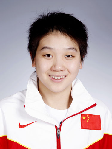 图文-北京奥运会中国代表团成立 游泳队队员尤美宏