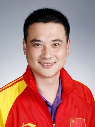 图文-北京奥运会中国代表团成立 射击队员邱健