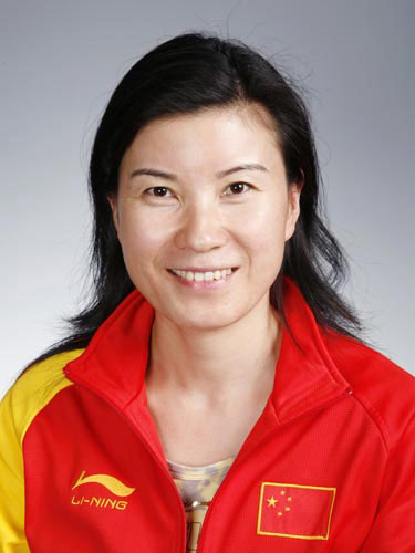 图文-北京奥运会中国代表团成立 射击队员刘英姿