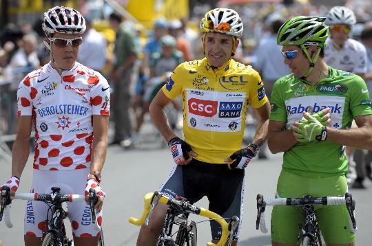 图文-2008年环法大赛落下帷幕三大领骑衫拥有者