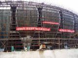 图文-济南奥体中心主体结构完好荷花外形完好
