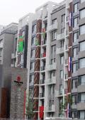 多国国旗装点奥运村