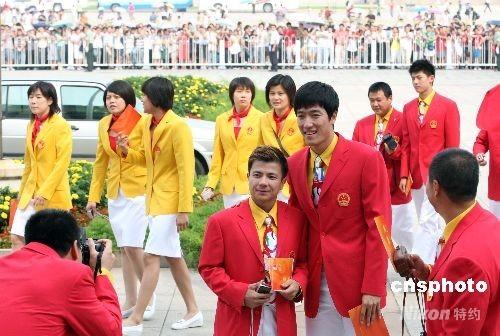 图文-中国体育代表团召开总结大会 两帅哥聚首
