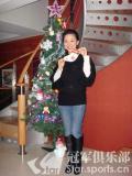 图文-潘晓婷圣诞树下倩影收礼物的袜子已经备好
