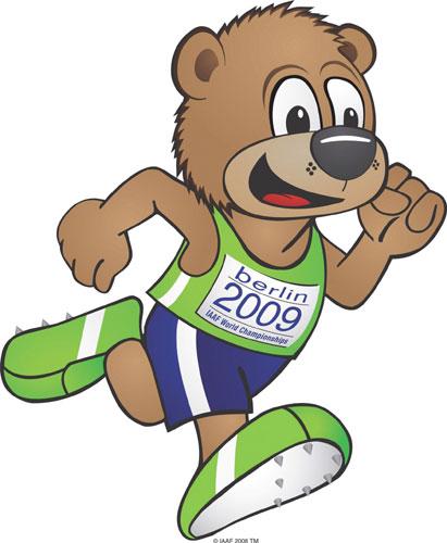图文-柏林田径世锦赛吉祥物出炉 可爱的奔跑小熊
