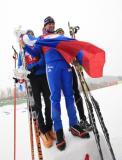 图文-男子个人20公里颁奖仪式古瑟夫庆祝夺冠