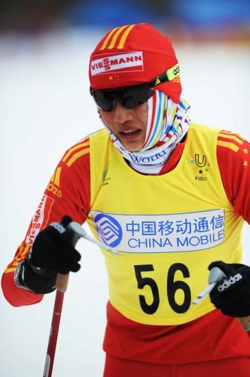 图文-越野滑雪女子短距离自由式中国选手唐佳琳