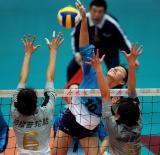 图文-全国女排联赛天津第6次夺冠李娟彰显实力